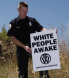 Police Banner - White People Awake CA