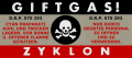 Zyklon Gas Sticker