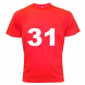 Number 31 - Red T Shirt