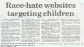 2003-03-01 Race-Hate Websites Targeting Children