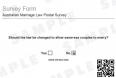 Australia: Same Sex Marriage - Vote No (1)
