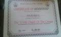WCOTC Certificate