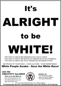 It's Alright to be White