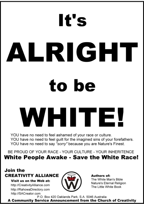 It's Alright to be White Flier