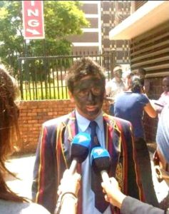 Afrikaans Youths In Black-Face Protest Against Racist University Policies