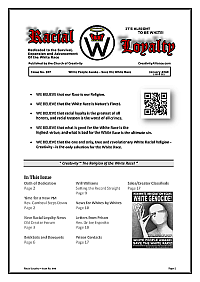 Racial Loyalty Newsletter